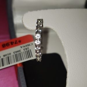 *NEW* Sterling Silver White Sapphire Hoops